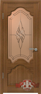 """Межкомнатная дверь """"Венеция"""", по, орех"""