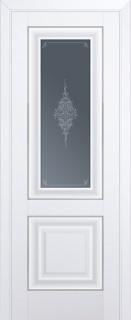 Межкомнатная дверь 28U, молдинг серебро ст. кристалл матовое, аляска