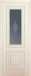 Межкомнатная дверь 28U, молдинг золото ст. кристалл матовый, магнолия сатинат