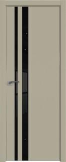 Межкомнатная дверь 16E, Шеллгрей, кромка ABS, черная, Экспорт