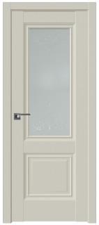 """Межкомнатная дверь 2.37U, стекло """"Франческо"""", магнолия сатинат"""