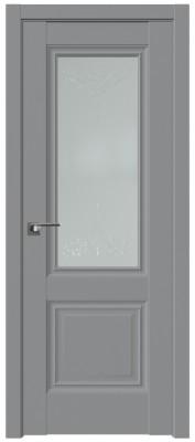 "Межкомнатная дверь 2.37U, стекло ""Франческо"", манхеттен"