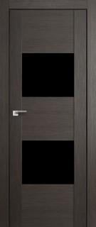 """Межкомнатная дверь """"21X"""", черный лак, грей мелинга"""