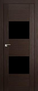 """Межкомнатная дверь """"21X"""", черный лак, венге мелинга"""