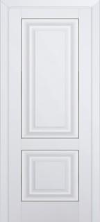 Межкомнатная дверь 27U, молдинг серебро, аляска