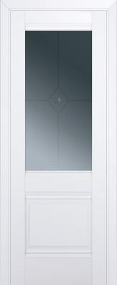 Межкомнатная дверь 2U, аляска стекло фьюзинг графит