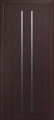Межкомнатная дверь 49U, темно-коричневый матовый