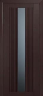 Межкомнатная дверь 53U, темно-коричневый матовый