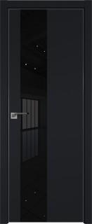 "Межкомнатная дверь ""5 Е"", черный матовый, мат. с 4-х сторон"