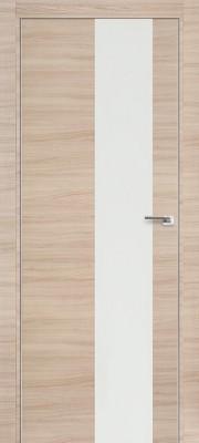 """Межкомнатная дверь """"5Z"""", по, капучино кроскут, белый лак"""