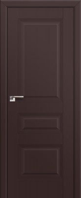Межкомнатная дверь 66U, темно-коричневый матовый
