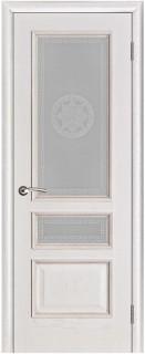 """Межкомнатная дверь """"Вена"""", по, белая патина"""