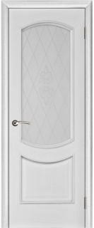 "Межкомнатная дверь ""Лира"", по, серебряная патина"