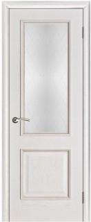 """Межкомнатная дверь """"Шервуд"""", стекло """"Классик"""", белая патина"""