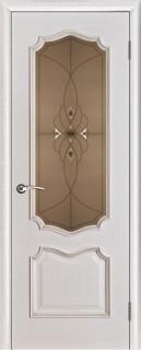 "Межкомнатная дверь ""Премьера"", по, белая патина"