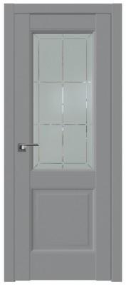 Межкомнатная дверь 90U, манхэттен, гравировка