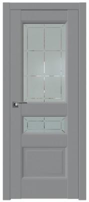 Межкомнатная дверь 94U, манхэттен,гравировка