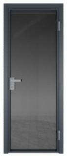 Межкомнатная дверь AG - 1 антрацит, планибель графит