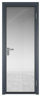 Межкомнатная дверь AG - 1 антрацит, прозрачное