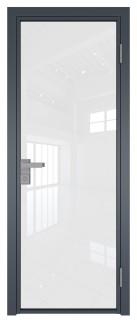 Межкомнатная дверь AG - 1 антрацит, белый триплекс