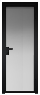 Межкомнатная дверь AG - 1 черный, мателюкс
