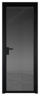 Межкомнатная дверь AG - 1 черный, планибель графит