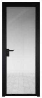 Межкомнатная дверь AG - 1 черный, прозрачное