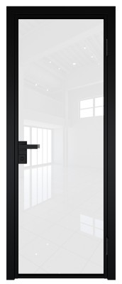 Межкомнатная дверь AG - 1 черный, белый триплекс