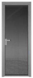 Межкомнатная дверь AG - 1 серый, планибель графит