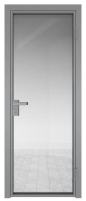Межкомнатная дверь AG - 1 серый, прозрачное