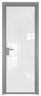 Межкомнатная дверь AG - 1 серый, белый триплекс