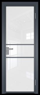 Межкомнатная дверь AG - 2 антрацит, белый триплекс