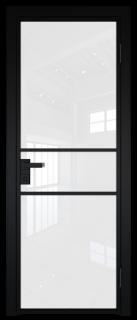 Межкомнатная дверь AG - 2 черный, белый триплекс