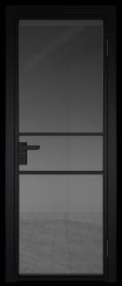 Межкомнатная дверь AG - 2 черный, планибель графит