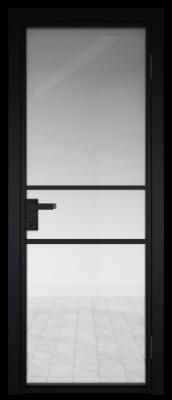 Межкомнатная дверь AG - 2 черный, прозрачное