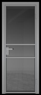Межкомнатная дверь AG - 2 серый, планибель графит