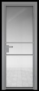 Межкомнатная дверь AG - 2 серый, прозрачное