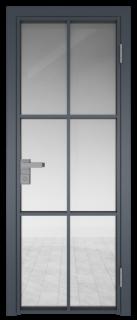Межкомнатная дверь AG - 3 антрацит, прозрачное