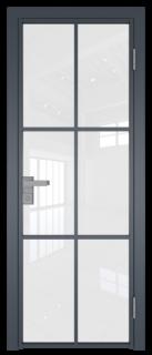 Межкомнатная дверь AG - 3 антрацит, белый триплекс