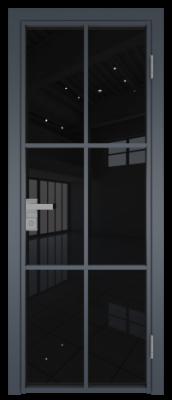 Межкомнатная дверь AG - 3 антрацит, черный триплекс