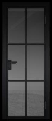 Межкомнатная дверь AG - 3 черный, панибель графит