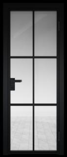 Межкомнатная дверь AG - 3 черный, прозрачное