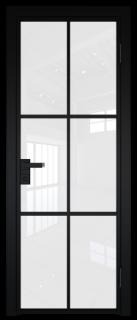 Межкомнатная дверь AG - 3 черный, белый триплекс