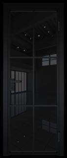 Межкомнатная дверь AG - 3 черный, черный триплекс