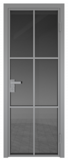 Межкомнатная дверь AG - 3 серый, панибель графит