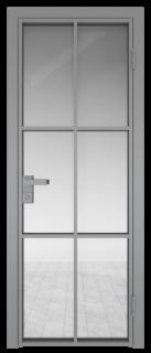 Межкомнатная дверь AG - 3 серый, прозрачное