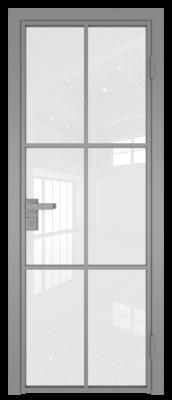 Межкомнатная дверь AG - 3 серый, белый триплекс