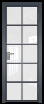Межкомнатная дверь AG - 4 антрацит, белый триплекс