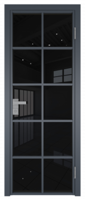 Межкомнатная дверь AG - 4 антрацит, черный триплекс