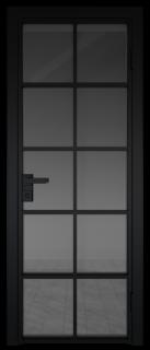 Межкомнатная дверь AG - 4 черный, планибель графит